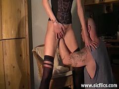 Kinky wife moans for extreme fisting with her horny husband. There is no stopping the fun as she lets him take advantage of her body in this naughty encounter.