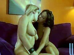 Two amazing bitches are having some good time together. They fondle each other passionately and then lick and finger each other's pussies and smash them with dildos.