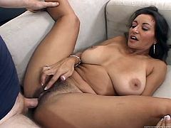 Have a look at this hardcore scene where the smoking hot mommy Persia Monir is fucked silly by this guy as you take a look at her big natural tits and great ass.