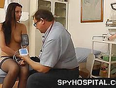 Naked woman patient secretly videotaped