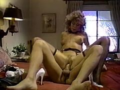Hot like hell blond head hussy with broad ass enjoys fancy flying fuck. Then jumps on that throbbing stick and fiercely bounces up and down on it. Watch this big booty blondie in The Classic Porn sex clip!