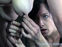 Bella Rossi gets multiple orgasms out of this torture session with her mistress. The torture is not too much based on pain, except the bondage and the nipple clamps.