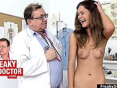 Unlicensed gyno medic exams hot babe Rihanna Samuel