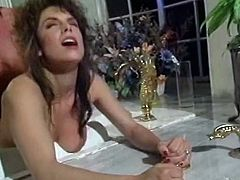 Watch this crazy sex with clown licking and eating his sexy girlfriend's wet and tight pussy in The Classic Porn sex clips.
