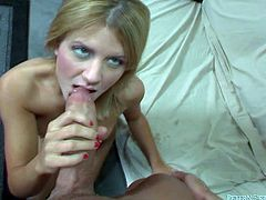 Light haired insatiable lassie with small Tatas likes to swallow big cocks. But this day she feels incredibly lucky cause her mouth tasted one tremendous penis of brutal tattooed dawg. Watch this lucky girlie in Fame Digital sex video!