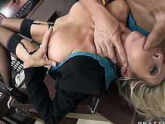 Emma Starr with massive hooters takes Johnny Sinss pole up her wet hole