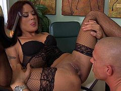 Kaylani Lei Blows this Guy and Fucks in the Office!