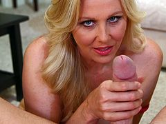 Make sure you have a look at this POV where the busty milf Julia Ann ends up with her mouth filled by semen after sucking and deep throating this guy's cock.