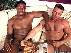 That's a wicked hard gay sex to watch! Eric York is in need of a huge black cock and today is his best day in his life to be fucked in interracial porn.