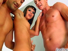 Sweet Angelina Gets DP By Two Horny Guys In A Threesome