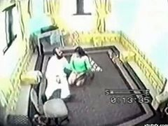 Amateur Indian housewife cheats on her husband while he's at work. Bitch gives lap dance to her secret lover and gets fucked missionary style right on the floor.