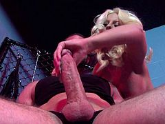 This alluring porn scene is full of passion as Britney Amber plays quite nasty