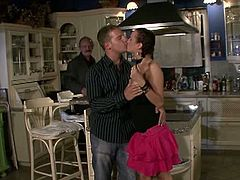 Old husband pays a young stud to fuck his wife