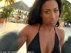 Come and see how the alluring and intense Ebony goddess Nikki Hoopz poses for the camera during her Black Men photo shoot at the beach. She's ready to be VERY bad.