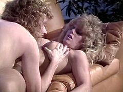 This cum-addicted bimbo fucks every time she gets the chance. In this hot sex video she gets brutally fucked by two studs. Press play and enjoy the show!