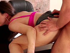 Nothing can make her boss feel so amazing than a good fuck with her