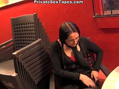 Filthy whore with dark hair and a pigtails gets drilled and sucks the dick i the crowded places. Watch at this crazy bitch in WTF Pass sex video.