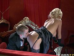 Milf Tia Layne finds opera boring and kills time fucking with Danny D. Elegant big racked blonde in long black gloves sucks hard dick and then gets her tight wet fuck hole stuffed.