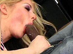 Horny blonde Haley Scott and sexy ebony chick Jada Fire are having fun with some black man indoors. They suck his BBC ardently and then ride it crazily by turns.