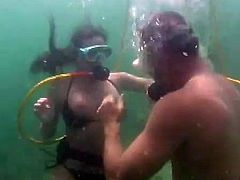 This couples always have sex in different places. Life is too short, so they want to get as much pleasure as they can. This time they fuck at the seabed.