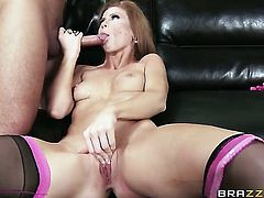 Keiran Lee gets pleasure from fucking incredibly hot Brooklyn Lees throat