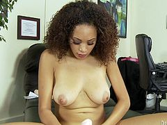 Get a load of this amazing solo scene where the gorgeous ebony babe Serena Ali shows off her sexy body as she masturbates with a dildo.