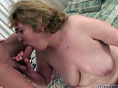 Hefty figured blond head plump old hoe gets her hairy smelly vag fingered a little, then her old thirsting slit got vigorously spoon way pounded. This old box could even give sos so blowjob to this freaky stud. Watch this old saggy pussy in Fame Digital porn video!
