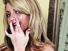 Staci Silverstone has fun with vibrator