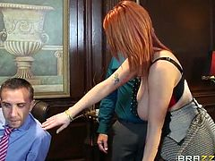 Brazzers Network brings you a spectacular free porn video where you can see how the busty redhead slut Siri getting fucked hard and deep into a huge orgasm.