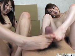 Two sizzling and petite Japanese chicks are performing so wild on your cock! They want you more then ever and you are gonna love it!