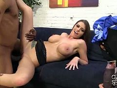 Cuckold Sessions Tattooed brunette Brooklyn Chase enjoys a hard black cock in front of her man. Watch her getting pounded into a breathtaking interracial orgasm.