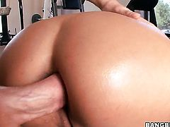Trina Michaels has dick-hungry ass and takes care of guys erection