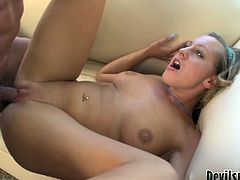 Filthy and kinky whores with blond hair and big boopies gives a blowjob and gets hammered. Watch at this bitches in Fame Digital sex clip.