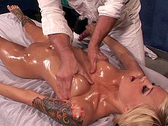 Emma Mae is fucked silly by her horny masseuse