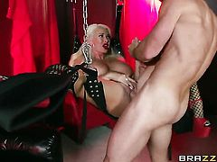 Johnny Sins buries his throbbing love torpedo in sex starved Summer Brielles mouth