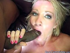 This slut needs two big black man rods! They fuck her crazy, doggy style, she milks those cocks for all they're worth, her ass gets slapped red!