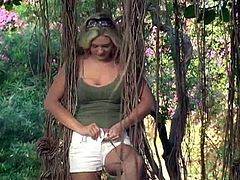 Amazing Alison Angel Shows Her Big Breasts Outdoors