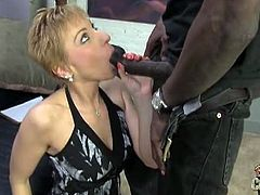 Massive black dong fills gemma's holes