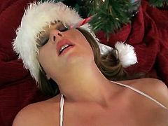 Allison Moore's fervent solo toying. She broke out her nicest, thickest dildoes, and she stuffed them in her sweet holes. She didn't even mind that her friend sent us the amateur porn she made.