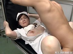 She is a Japanese whore and what she does today is a wild fuck with her doctor on that laboratory! SHe is gonna get some orgasm.