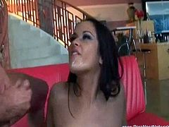 See how this sexy brunette babe in this hot threesome video.Where these two horny hunk fucks her with their big cock in hr both holes.Nice double penetration hardcore fuck in threesome.
