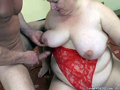 Check out this hot scene where a BBW mature is fucked silly by a horny guy after she gets a taste of his big cock. See how she ends up with a mouthful of cum afterwards.
