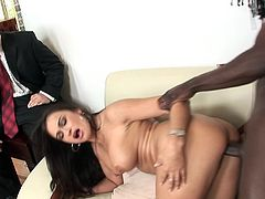 As her hubby concluded, nothing makes his wife more happy than a black cock