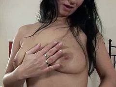 Karup's Older Women brings you a hell of a free porn video where you can see how this hot brunette milf dildos her sweet pink cunt into a massive orgasm.