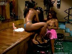 Make sure you have a look at this hot lesbian scene where these horny ebony babes have a lesbian threesome that'll make your dick hard.