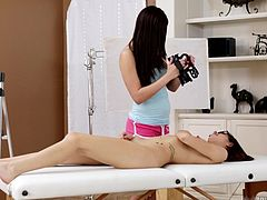 filmed on the massage table