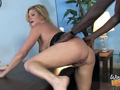 Ginger Lynn gets double black dongs in hot threeway cuckolding. Making her boy watch the festivities was the only way she could make sure he'd never fuck up again.
