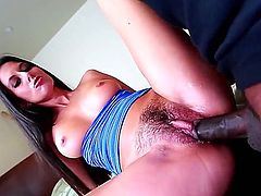 Cute Nikki Daniels takes on black sausage