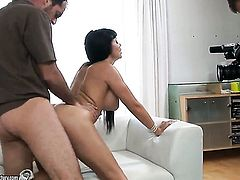 Aletta Ocean with giant tits makes her sexual fantasies a reality alone