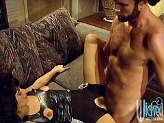 Brunette milf Asia Carrera enjoys oral sex and gets her twat smashed